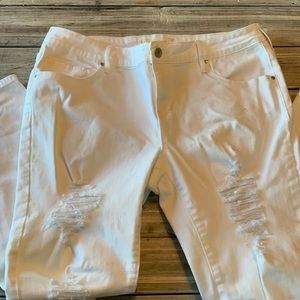 Pacsun distressed white jeans